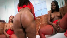 Fat ass Marshae eats dick and bounces that ass on his stiff rod