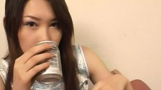 Lustful Japanese chick has a juicy peach longing for a hard pounding
