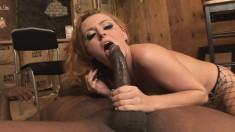 Bodacious blonde milf Sophie Dee has a black stallion pounding her ass