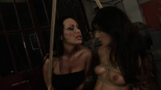 Horny mistress Mandy Bright gets into a kinky fuck fest with a hot girl