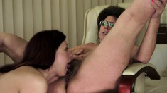 Horny Granny Can't Get Enough Of Fucking An Innocent Young Girl