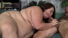 Jayden works her lips on a long pole before it invades her aching twat