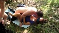 Anastasia Blue Dayton Rains Group Sex Outdoor