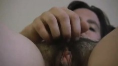 Indian Amateur Cleans Hairy Muff