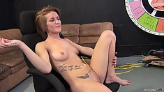 Britney Jade enjoys a smoke break after getting banged and creamed