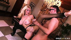 Horny bitch Charlee Chase gets his cock slipped into her fuck hole