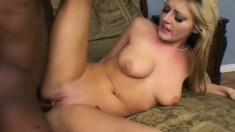 Tee Reel slams his black cock in Sophie Dee's tight white pussy