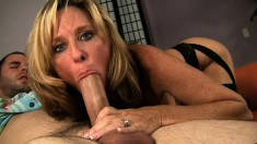 Jodi West is a busty blonde doctor eager to get fucked by a young stud