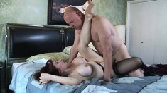 Nasty Older Woman With Big Boobs Blows A Cock And Gets Her Fiery Pussy Drilled Deep