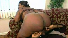 Fat Ebony With Big Tits Sits On His Face, Sucks Dick And Gets Pumped