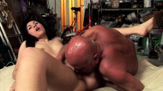 Delightful Teen Seduces A Dirty Old Guy To Satisfy Her Needs And Urges