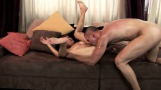 Insatiable red-haired GILF gets itno a fuck fest with a young stud
