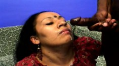 Horny Indian Gal Lashki Blows Black Dick While Getting Drilled In A Threesome
