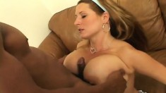 Big Breasted Summer Sinn Offers A Hung Black Stud A Fabulous Blowjob