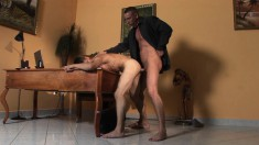 Married stud gives a lustful boy the rough anal pounding he deserves
