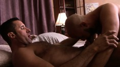 Lustful guys can't resist each other's charms and enjoy hard anal sex