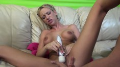 Pigtailed cutie Kaylee Hilton fucks a big dick and makes herself cum