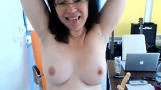 Amateur Mature Dildo Fucks And Stretches Her Gaping Ass