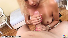 As stream of cum flows down her throat, the wild cougar finishes her amazing work