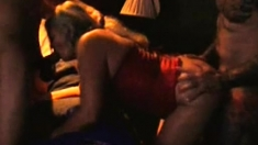 Doggystyle anal sex with slut in group porn