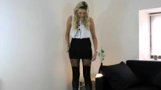Blonde Anna Amateur Casting Pov