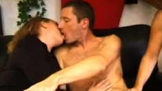 Blonde Milf In Hot Bisexual Threesome