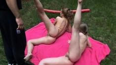 Outdoor Teen Threesome