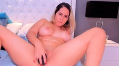 Big Ass CHick Dildos Her Pink Pussy
